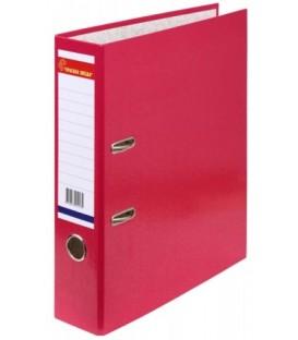 Папка-регистратор «Красная звезда» с односторонним ламинированным покрытием корешок 70 мм, малиновый