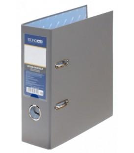 Папка-регистратор А5 вертикальный Economix с односторонним ПВХ-покрытием корешок 70 мм, серый