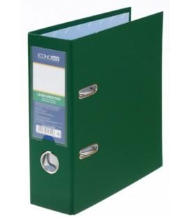 Папка-регистратор А5 вертикальный Economix с односторонним ПВХ-покрытием корешок 70 мм, зеленый