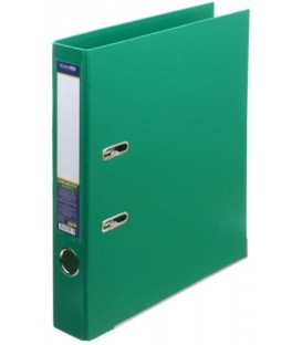 Папка-регистратор Lux Economix с двусторонним ПВХ-покрытием корешок 50 мм, зеленый