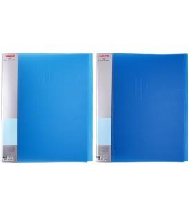 Папка пластиковая на 2-х кольцах Diamond толщина пластика 0,7 мм, полупрозрачная синяя