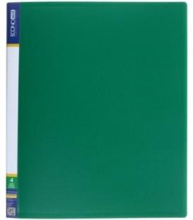 Папка пластиковая на 4-х кольцах Economix толщина пластика 0,7 мм, зеленая
