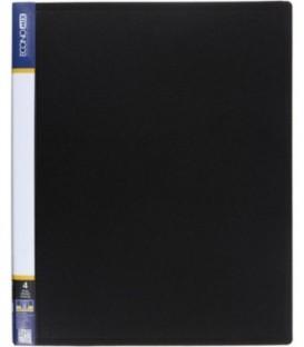 Папка пластиковая на 4-х кольцах Economix толщина пластика 0,7 мм, черная