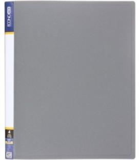 Папка пластиковая на 4-х кольцах Economix толщина пластика 0,7 мм, серая