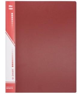Папка пластиковая на 2-х кольцах inФормат толщина пластика 0,7 мм, красная