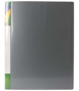 Папка пластиковая на 2-х кольцах Forpus толщина пластика 0,7 мм, серая
