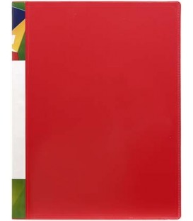Папка пластиковая на 2-х кольцах Forpus толщина пластика 0,7 мм, красная