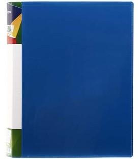 Папка пластиковая на 2-х кольцах Forpus толщина пластика 0,7 мм, темно-синяя
