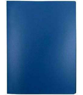 Папка пластиковая на 4-х кольцах Lite толщина пластика 0,5 мм, синяя