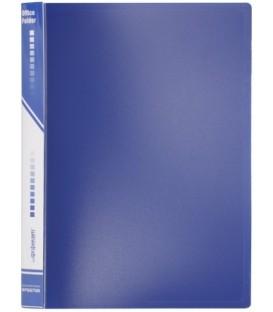 Папка пластиковая на 4-х кольцах inФормат толщина пластика 0,7 мм, синяя