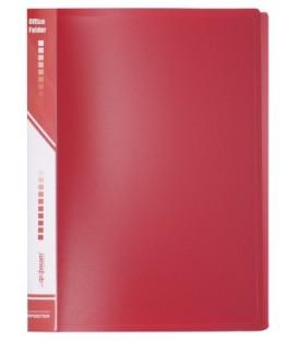 Папка пластиковая на 4-х кольцах inФормат толщина пластика 0,7 мм, красная