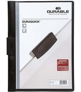 Папка пластиковая с клипом Durable Duraquick А4, 20 л, черная