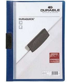 Папка пластиковая с клипом Durable Duraquick А4, 20 л., темно-синяя