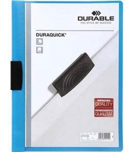 Папка пластиковая с клипом Durable Duraquick А4, 20 л., синяя