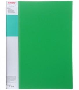 Папка пластиковая с боковым зажимом и карманом Standart толщина пластика 0,7 мм, зеленая