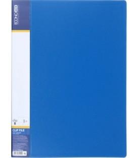 Папка пластиковая с боковым зажимом и карманом Economix толщина пластика 0,7 мм, синяя