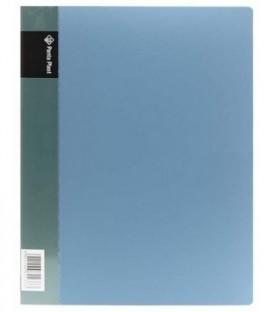 Папка пластиковая с боковым зажимом и карманом Panta plast толщина пластика 0,6 мм, синяя