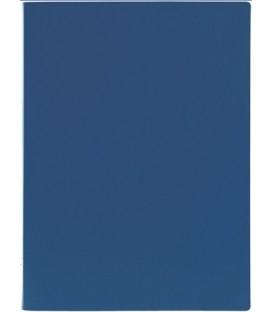 Папка пластиковая с боковым зажимом Lite толщина пластика 0,5 мм, синяя