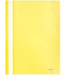 Папка пластиковая со скоросшивателем А4 Sponsor толщина пластика 0,16 мм, желтая