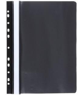 Папка пластиковая со скоросшивателем А4 Panta Plast толщина верхнего листа - 130 мкм- нижнего - 180 мкм, черная