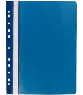 Папка пластиковая со скоросшивателем А4 Panta Plast толщина верхнего листа - 130 мкм- нижнего - 180 мкм, темно-синяя