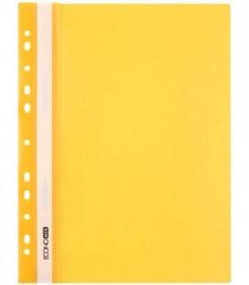 Папка пластиковая со скоросшивателем А4 Economix толщина пластика 0,16 мм, желтая