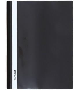 Папка пластиковая со скоросшивателем А4 Economix толщина пластика 0,16 мм, черная