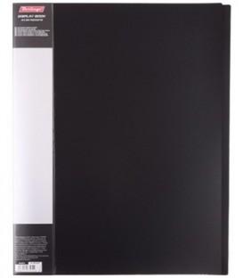 Папка пластиковая на 20 файлов Standart толщина пластика 0,6 мм, черная