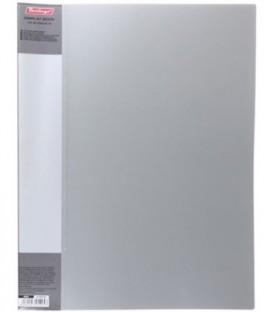 Папка пластиковая на 40 файлов Standart толщина пластика 0,6 мм, серая