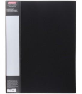 Папка пластиковая на 40 файлов Standart толщина пластика 0,6 мм, черная