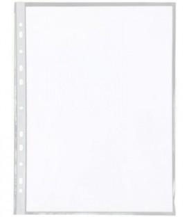 Файл А4 перфорированный inФормат 40 мкм, гладкий, глянцевый, 217*305 мм (до 70 л.)