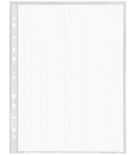 Файл А4 перфорированный inФормат 30 мкм, гладкий, глянцевый, 218*306 мм (до 80 л.)