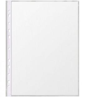 Файл А4 перфорированный «Канцфайл» 45 мкм, гладкий, глянцевый, 217*303 мм (до 70 л.)
