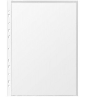 Файл А4+ перфорированный Economix 30 мкм, гладкий, глянцевый, 218*306 мм (до 80 л.)