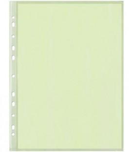 Файл А4 перфорированный цветной Optima 40 мкм, гладкий, глянцевый, салатовый, 217*307 мм (до 70 л.)