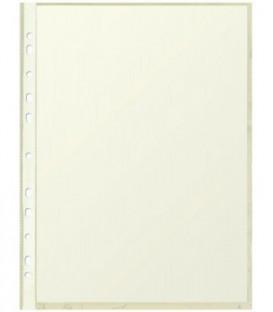 Файл А4 перфорированный цветной Optima 40 мкм, гладкий, глянцевый, желтый, 217*304 мм (до 70 л.)