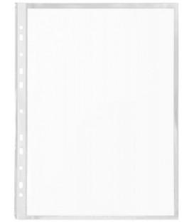Файл А4 перфорированный Stanger 60 мкм, гладкий, глянцевый, 220*307 мм (до 100 л.)