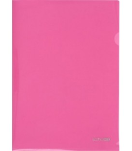 Папка-уголок пластиковая Economix толщина пластика 0,18 мм, розовая