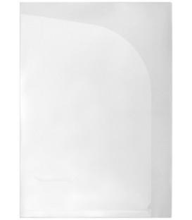 Папка-уголок пластиковая с 2 отделениями inФормат толщина пластика 0,15 мм, прозрачная