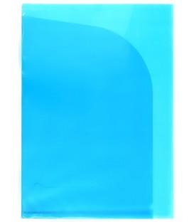 Папка-уголок пластиковая с 2 отделениями inФормат толщина пластика 0,15 мм, прозрачная синяя
