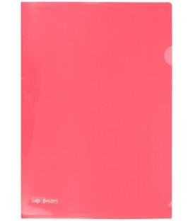 Папка-уголок пластиковая inФормат толщина пластика 0,18 мм, красная