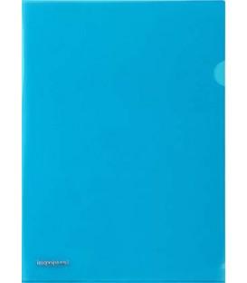 Папка-уголок пластиковая inФормат толщина пластика 0,18 мм, синяя