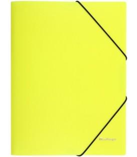 Папка пластиковая на резинке Berlingo Neon толщина пластика 0,5 мм, желтая