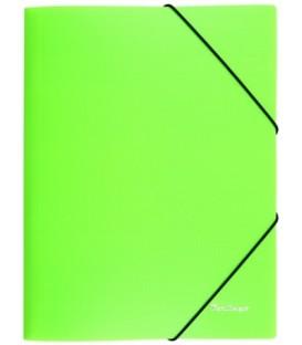 Папка пластиковая на резинке Berlingo Neon толщина пластика 0,5 мм, зеленая
