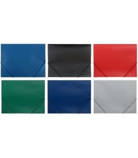 Папка пластиковая на резинке Sponsor толщина пластика 0,4 мм, ассорти