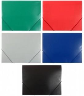 Папка пластиковая на резинке Sponsor толщина пластика 0,5 мм, ассорти