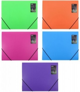 Папка пластиковая на резинке Colourplay толщина пластика 0,7 мм, ассорти