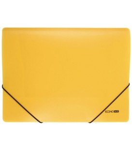 Папка пластиковая на резинке Economix толщина пластика 0,5 мм, желтая