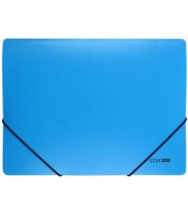 Папка пластиковая на резинке Economix толщина пластика 0,5 мм, голубая