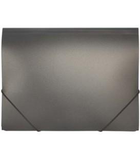 Папка пластиковая на резинке inФормат толщина пластика 0,5 мм, черная